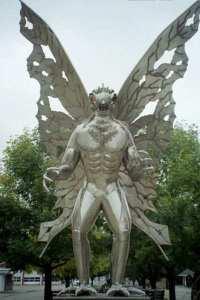 Mothman statue